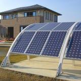 Solar panels. The Contemporary Solar energy equipment with Solar panels Royalty Free Stock Photo