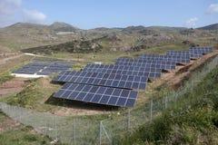 Solar panels, Cyprus Royalty Free Stock Photo