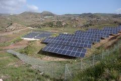 Solar panels, Cyprus Royalty Free Stock Photos