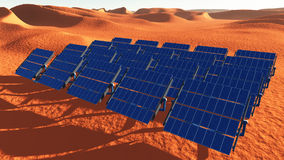 Solar Panels Desert Stock Images