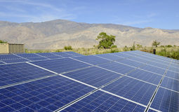 Solar Panels in a desert environment Stock Photography