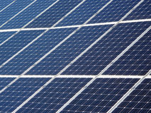 Solar panels in detail Royalty Free Stock Photo