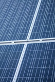 Solar panels detail. Color detail of some blue solar panels Royalty Free Stock Photography