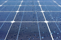 Solar panels in dew Stock Images