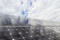 Solar panels. Eco energy photovoltaic Stock Photos
