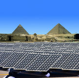 Solar panels in Egypt stock images