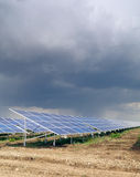 Solar panels. For electricity and a cloudy sky Stock Photo