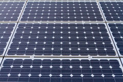 Solar Panels for Electricity Power. Eco-friendly solar panels photographed in color on a country property for energy generation and sustainable electricity Royalty Free Stock Photos