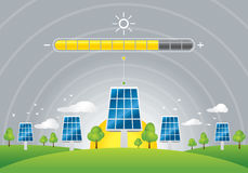 Solar panels energy charging Royalty Free Stock Image