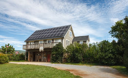 Solar Panels Energy Conservation Royalty Free Stock Photos