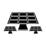 Solar panels energy environment symbol pictogram Stock Image