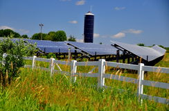 Solar Panels Energy Farm Stock Photos