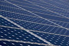 Solar panels for energy saving Royalty Free Stock Photos