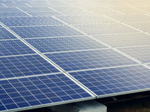 Solar Panels Energy saving Ecology Industry concept Royalty Free Stock Image