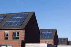 Solar panels on family houses Royalty Free Stock Photography