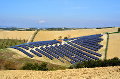 Solar panels field Royalty Free Stock Image