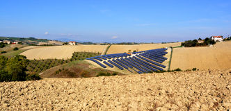 Solar panels field Stock Image