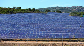 Solar panels field Stock Images