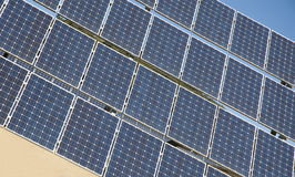 Solar panels field Stock Photo