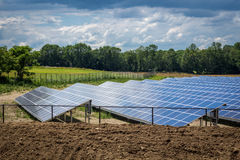 Solar Panels Field Royalty Free Stock Photography
