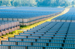 Solar panels field on asunny day Stock Photography
