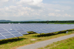 Solar panels in the field Royalty Free Stock Image