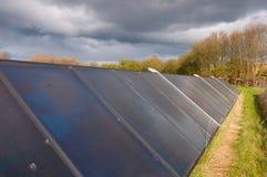 Solar Panels. On a field inn the dainsh countryside Stock Photos