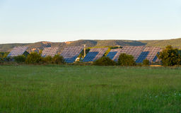 Solar Panels in the Field Stock Images