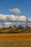 Solar Panels in the Field Royalty Free Stock Photo