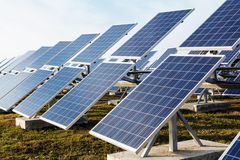 Solar panels field Royalty Free Stock Images