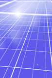 Solar panels field and roof Stock Photography