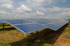 Solar Panels in the field Stock Photos