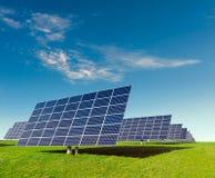 Solar panels on a field Stock Photos