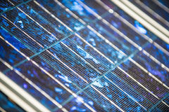 Solar panels on the foor. Selective focus stock photography