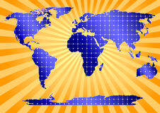 Solar Panels Globally (orange background) Stock Image