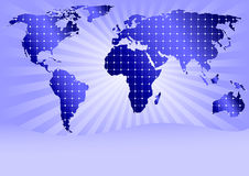 Solar Panels Globally (with space for sample text) Royalty Free Stock Photo