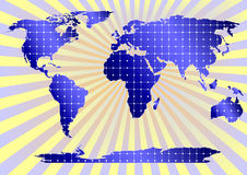 Solar Panels Globally (yellow background) Stock Photos