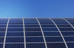 Solar Panels. Green energy. Solar Panels in clear blue sky Stock Photography
