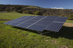 Solar panels and green grass, Oak View, California, USA Royalty Free Stock Photography