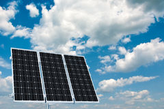 Solar panels for home use Royalty Free Stock Image