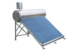 Solar panels for hot water Royalty Free Stock Image