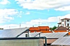 Solar panels on house Stock Photography