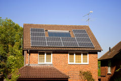 Solar panels on house Royalty Free Stock Photos