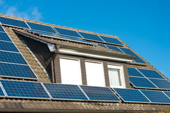 Solar panels on house Royalty Free Stock Photography
