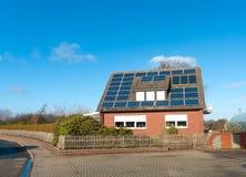 Solar panels on house Stock Image