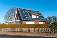 Solar panels on house Stock Images