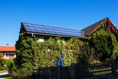 Solar panels on a house Stock Image