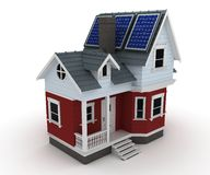 Solar panels on a house Royalty Free Stock Image