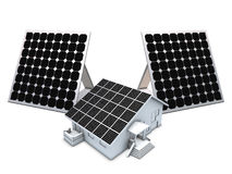 Solar panels and house model Royalty Free Stock Photography