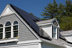 Solar Panels on a house Stock Photos